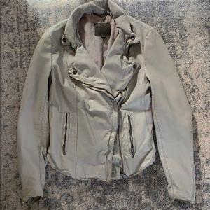 Muuubaa Grey Leather Jacket